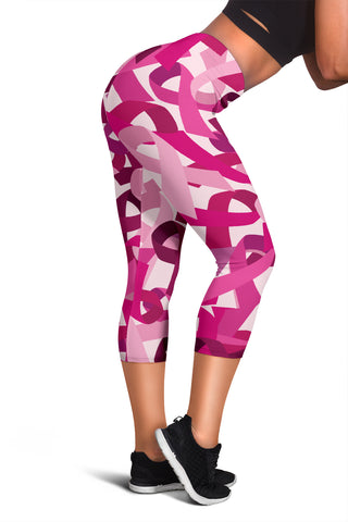 Breast Cancer Awareness Female Leggings | Breast Cancer Awareness Women's Capris