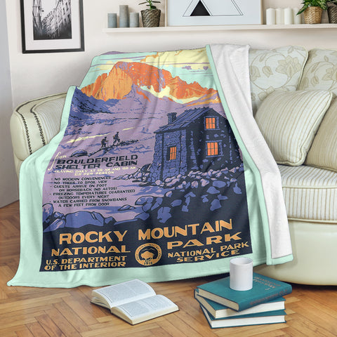 Rocky Mountain National Park Premium Blanket