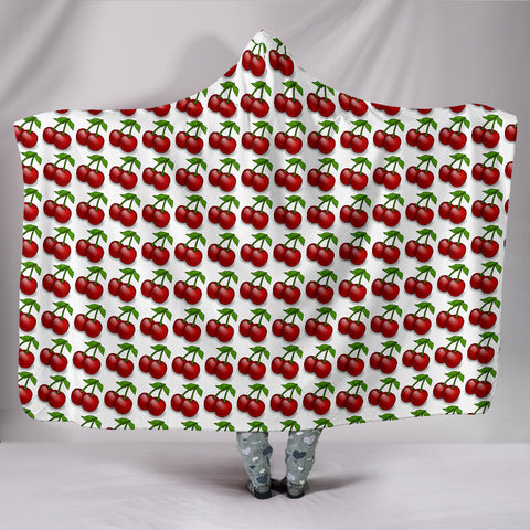 Hooded Blanket - Cherries
