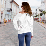 Women's Off Shoulder Sweater - Bananas