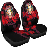 Frida Kahlo Car Seats (2 Pieces) - Red Roses