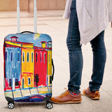 Colored houses Luggage cover