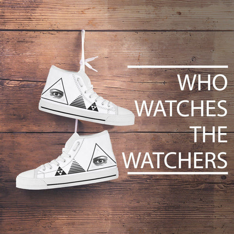 Eye and Triangles Women's High Top Shoes