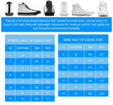 Men's Suzuki GSXR Blue High Tops - White