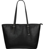 """A"" Monogram Crest Small Leather Tote"