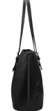 Frog Black and White Small Leather Tote