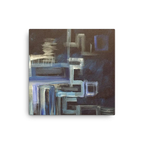 Abstract Blue Angles Canvas