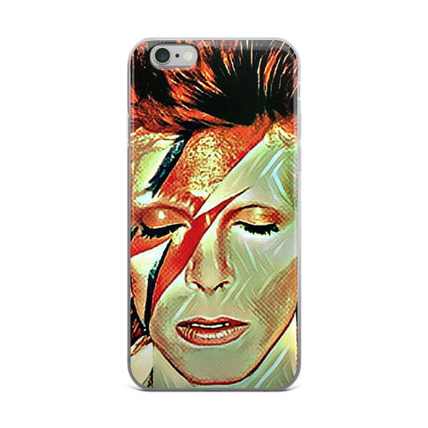 Green David Bowie Tribute iPhone Case