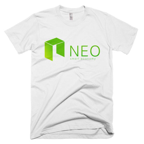 Cryptocurrency NEO Men's Short-Sleeve T-Shirt | Logo with Full Text | HODL On For Dear Life