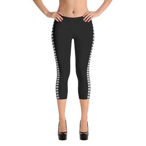 Tire Tracks Capri Leggings
