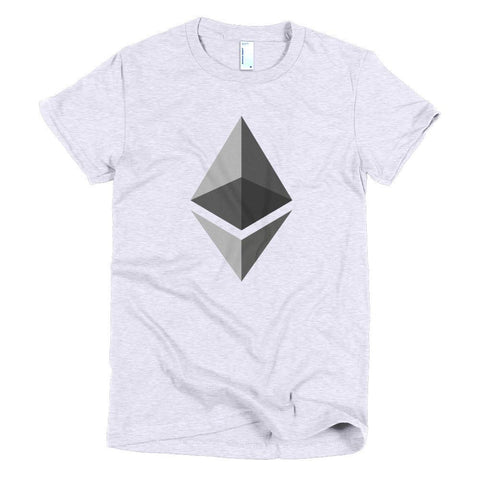 Cryptocurrency Women's Short Sleeve Ethereum T-Shirt | HODL On For Dear Life