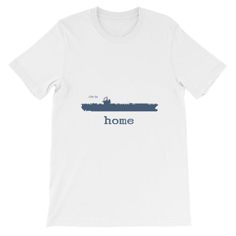 Unisex Aircraft Carrier CVN 76 Home T-shirt