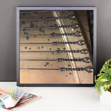 Framed Antique Piano Strings and Metal Photo Paper Poster