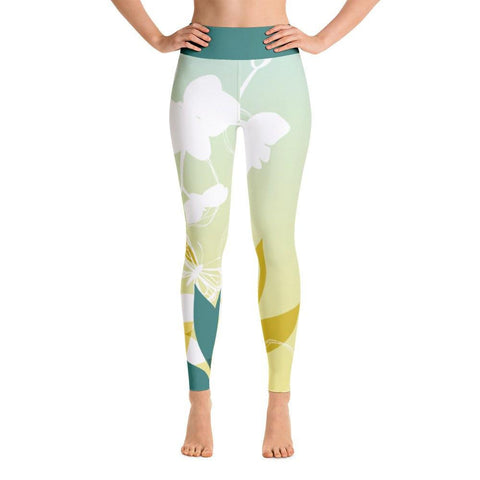 Leaves and Flowers Yoga Leggings