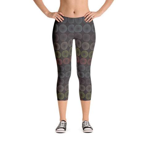 Retro Circles Capri Leggings