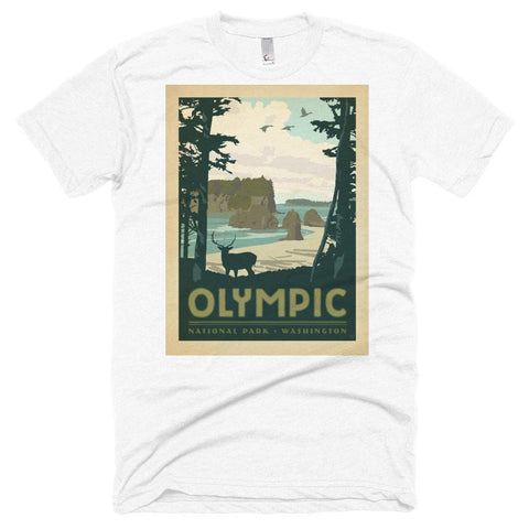 Olympic National Park Poster Unisex Tshirt