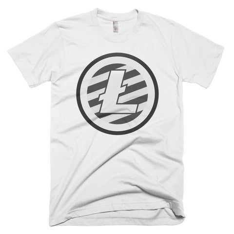 Cryptocurrency Men's Short-Sleeve Litecoin T-Shirt | HODL On For Dear Life