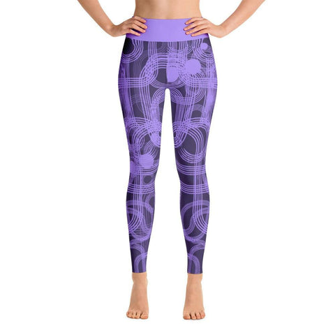 Purple Curves Yoga Leggings