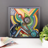 Framed abstract horse poster