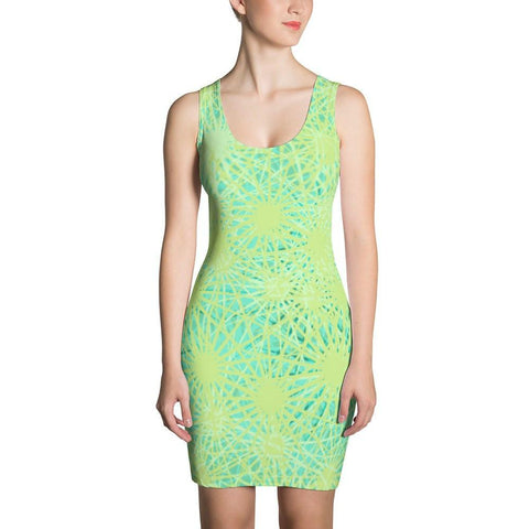 Green and Yellow Sublimation Cut & Sew Dress