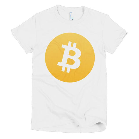 Cryptocurrency Women's Short Sleeve Bitcoin T-Shirt | HODL On For Dear Life