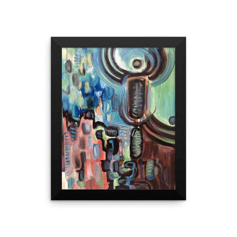Framed Abstract Angel Poster