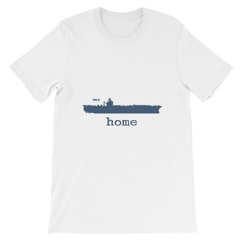 Unisex Aircraft Carrier CVN 71 Home T-shirt