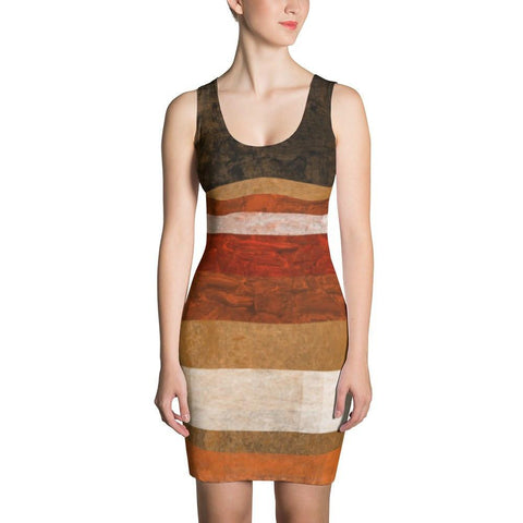 Abstract Stripes Dress