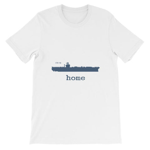 Unisex Aircraft Carrier CVN 72 Home T-shirt