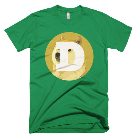 Cryptocurrency Men's Short-Sleeve Dogecoin T-Shirt | HODL On For Dear Life