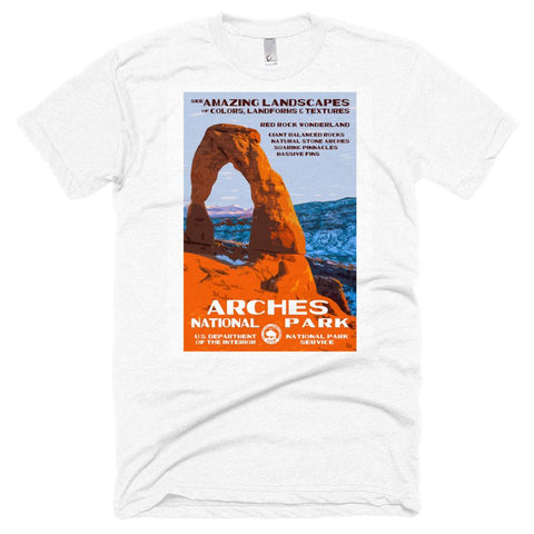 Arches National Park Poster Unisex Tshirt