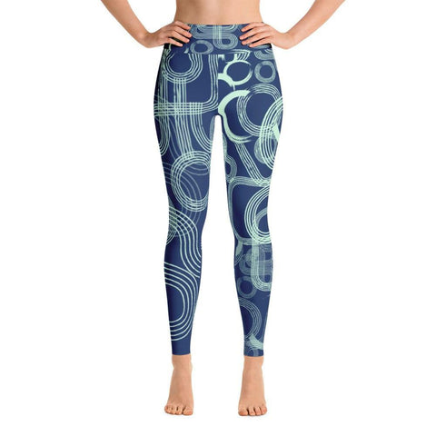 Teal Curves Yoga Leggings