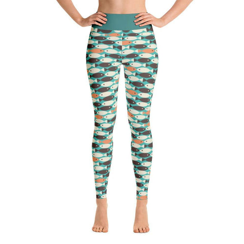 Retro Fish Yoga Leggings