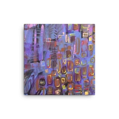Abstract Cityscape Canvas