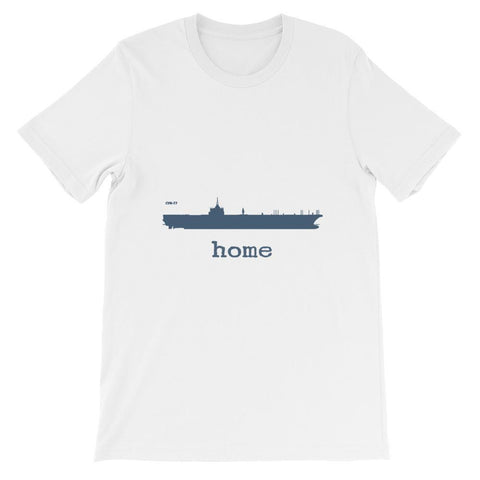 Unisex Aircraft Carrier CVN 77 Home T-shirt