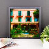 Framed Impressionist French Boutique Hotel Poster