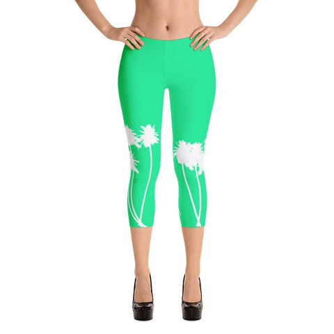Women's Palm Tree Capri Leggings