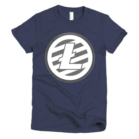 Cryptocurrency Women's Short Sleeve Litecoin T-Shirt | HODL On For Dear Life