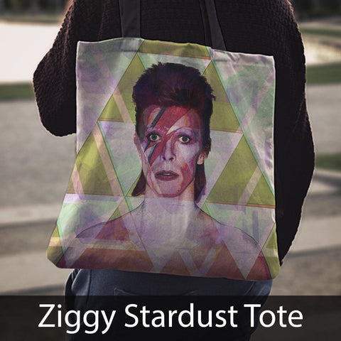 David Bowie Tribute Canvas Tote
