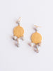 Susan Shaw Agate and Gold Earrings