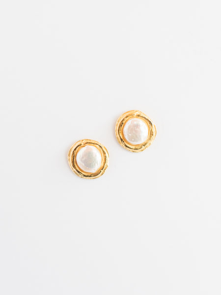 Susan Shaw Freshwater Pearl Stud Earrings