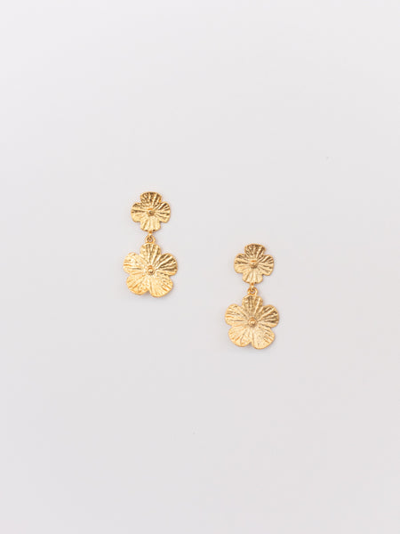 Susan Shaw Delicate Flower Drop Earrings