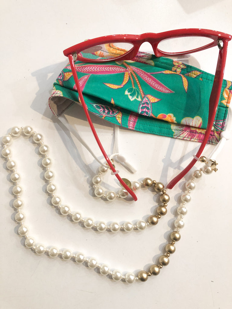 Convertible Mask/Reader Pearl Chain