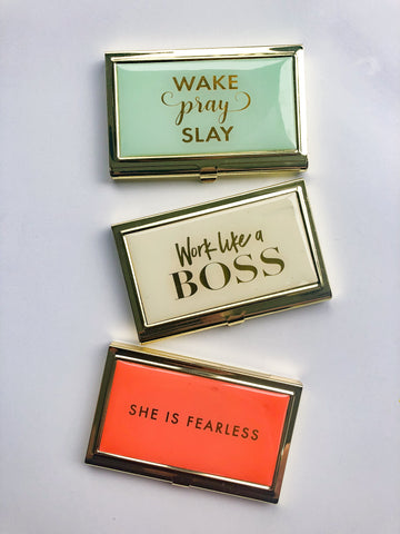 Boss Babe Business Card Holder