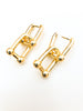 Modern Drop Link Earring