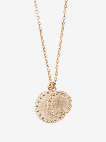Susan Shaw Gold Circles Necklace