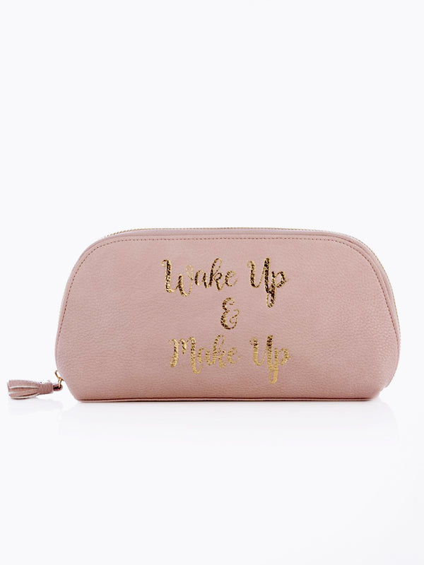 Wake Up & Make Up Cosmetic Bag