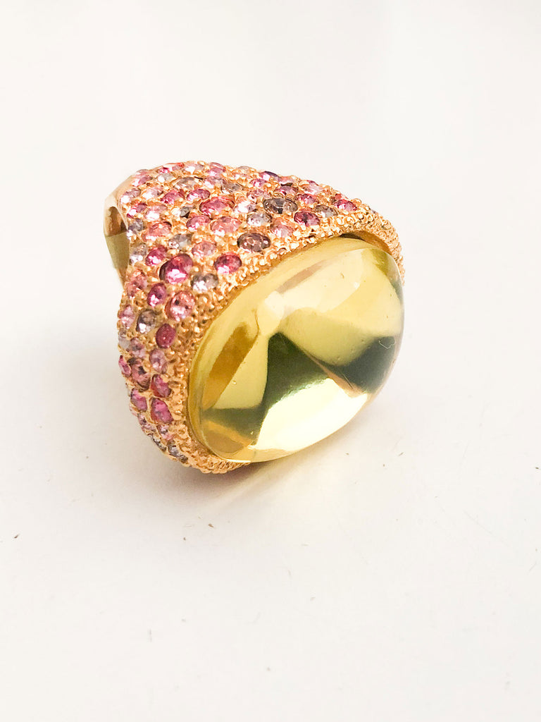 Antique Gold and Multi Gem Ring