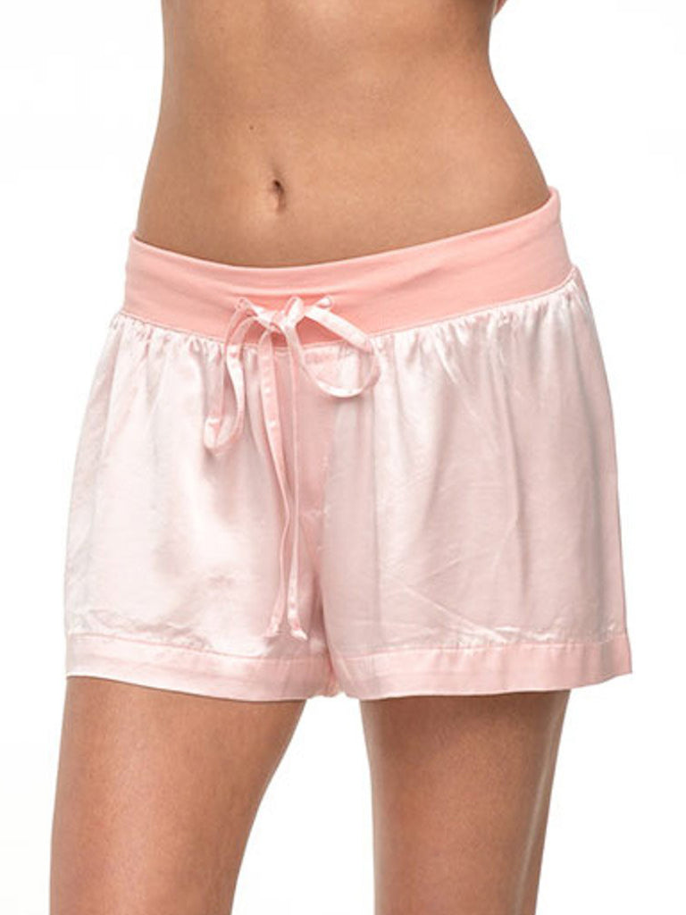 Satin Boxer with Rib Knit Waistband