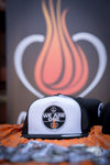 ONE FIRE CLOTHING - WE ARE ONE TRUCKER HAT - One Fire Movement - Positive Message Hats - Inspirational Hats